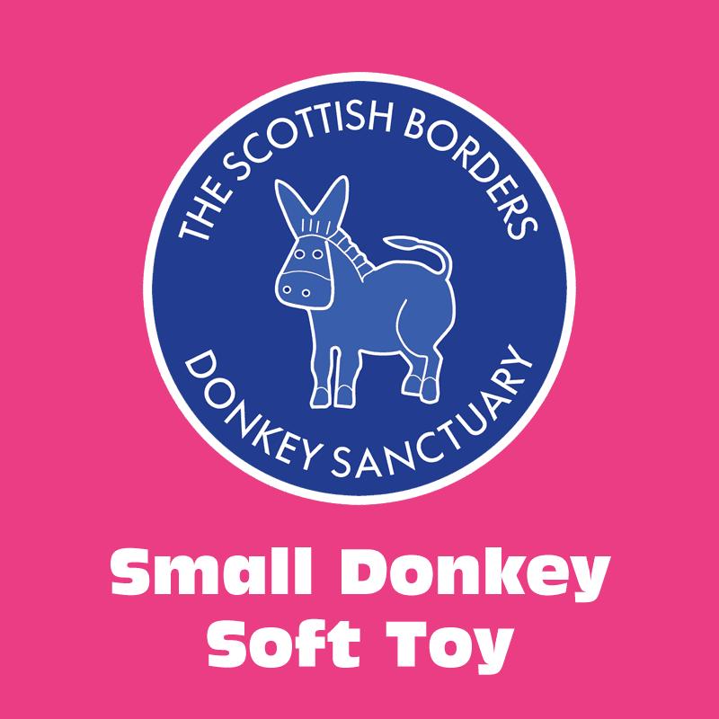 Small donkey soft toy